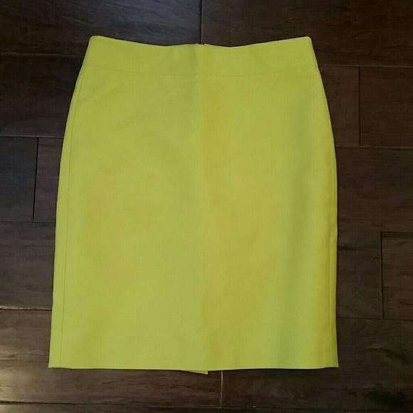 e62110a53 J. Crew Skirts | Jcrew Chartreuse No2 Pencil Skirt | Poshmark